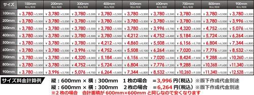 201804_【★接客用】看板価格表